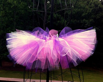 Trinity Tutu - Purple, White and Shocking Pink - Available in Infant, Toddlers, Girls, Teenager, Adult and Plus Sizes