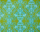 Fabric by the Yard - Michael Miller Ooh La La Tonal Coeur De Fleurs Lime