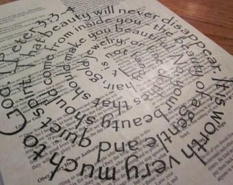 1 Peter 3 Spiral Scripture Bible Verse on Wood Plaque