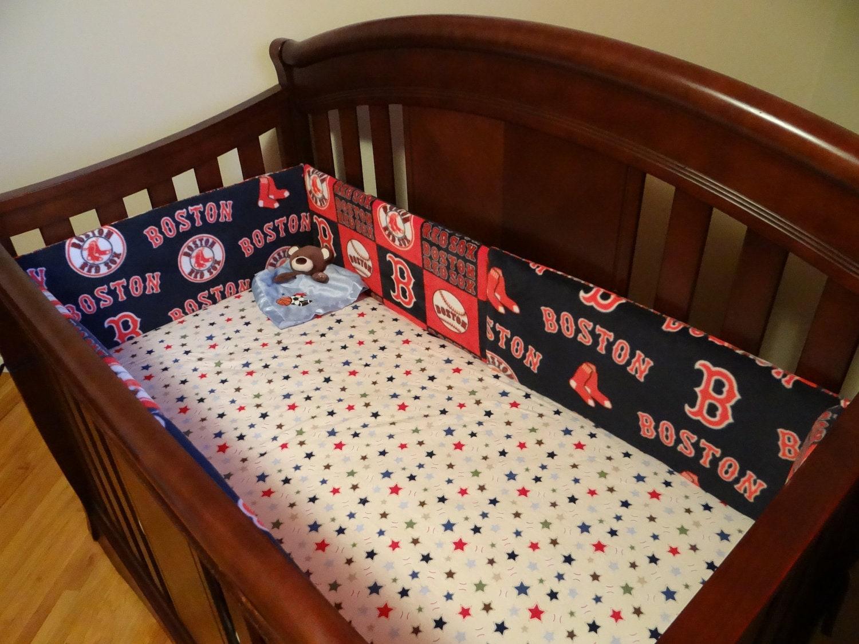 Red Sox Crib Bumper Pads
