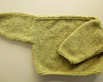 Hand Knit Baby Pullover Sweater 9 - 12 mos