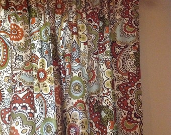 "Pair of 50x90"" Panels. Clip Rings/Rod Pocket Draperies"