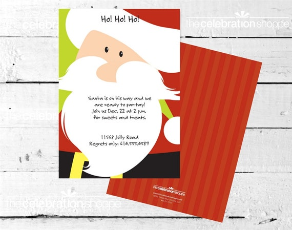 SANTA HOLIDAY Party INVITATION from The Celebration Shoppe