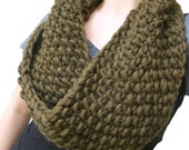 Chunky Knit Wool Infinity Scarf