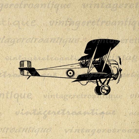vintage airplane clipart - photo #49