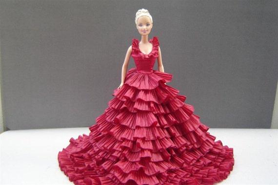 DESYSHOP Fashion  Barbie Royalty Silkstone OOAK red pete evening dress