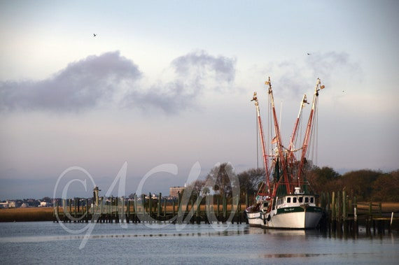 Shrimp Boat on Shem Creek, Mt. Pleasant, South Carolina (PR) (canvas)