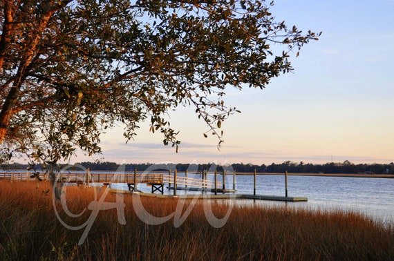Dock on the Ashley River in Charleston, South Carolina