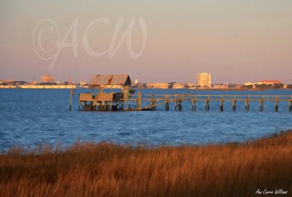 Dock in Charleston Harbor South Carolina  (canvas)