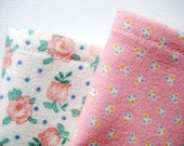 American Girl Bedding, Bitty Baby Receiving Blankets, Sweet Pink Blossoms