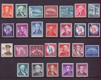 1954 Liberty Series. Set of 26 US Postage stamps for Sale .. Postage Stamps for the Collector