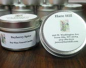 Bayberry Spice Scented Soy Wax Travel Candle