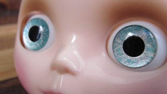 Blythe Custom Eyechips - Icy Turquoise