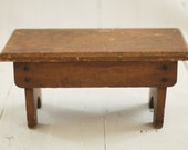 Vintage Primitive wood stool - for child or footstool - photo prop