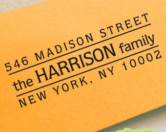 CUSTOM ADDRESS STAMP, personalized pre inked address stamp, pre inked custom address stamp, return address stamp with proof - Stamp b5-5
