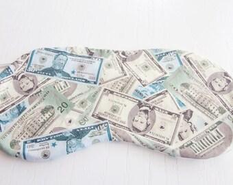 Money Sleep Shade Eye Mask with Green Paisley EyeMask, SleepMask