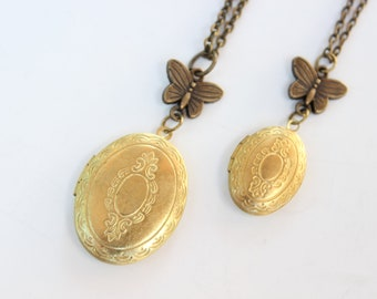 Matching Mother Daughter Lockets vintage lockets mom daughter american girl doll matching