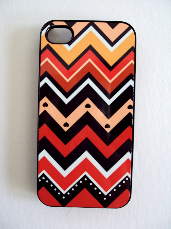 iPhone Case fits 4 4S Autumn Chevron