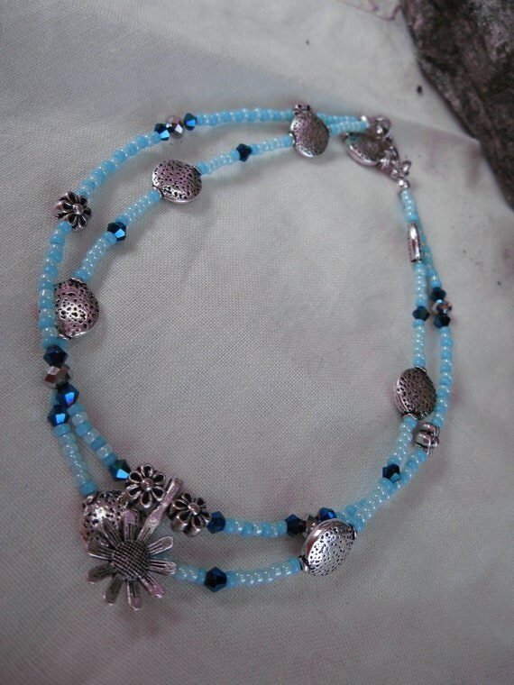 Baby Blue Anklet