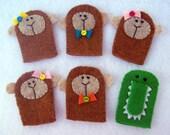 Five Little Monkeys Swinging on a Tree Felt Finger Puppets