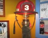 Fireman helmet hose pole lamp/light firefighter