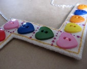 Matching game felt necklace - Heart Series - Ready to ship