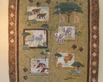 Collage Art Quilt - Serengeti