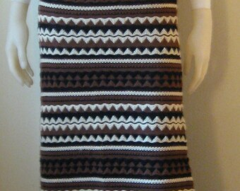 1960's Lisa Originals Wool Long Skirt  and Vest Set