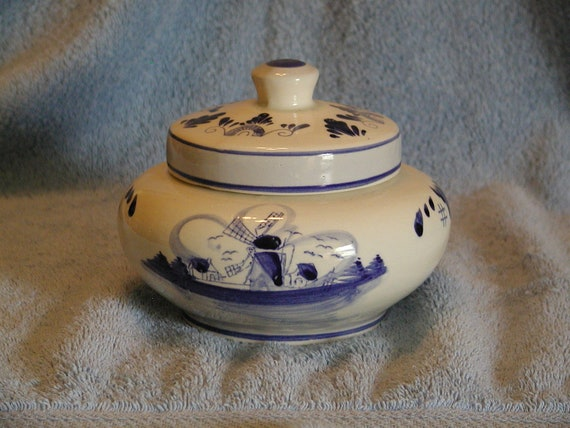 Delft Deco Candy Jar
