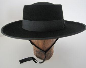 Portuguese Style Ridding Hat, Bolero hat, Wool felt