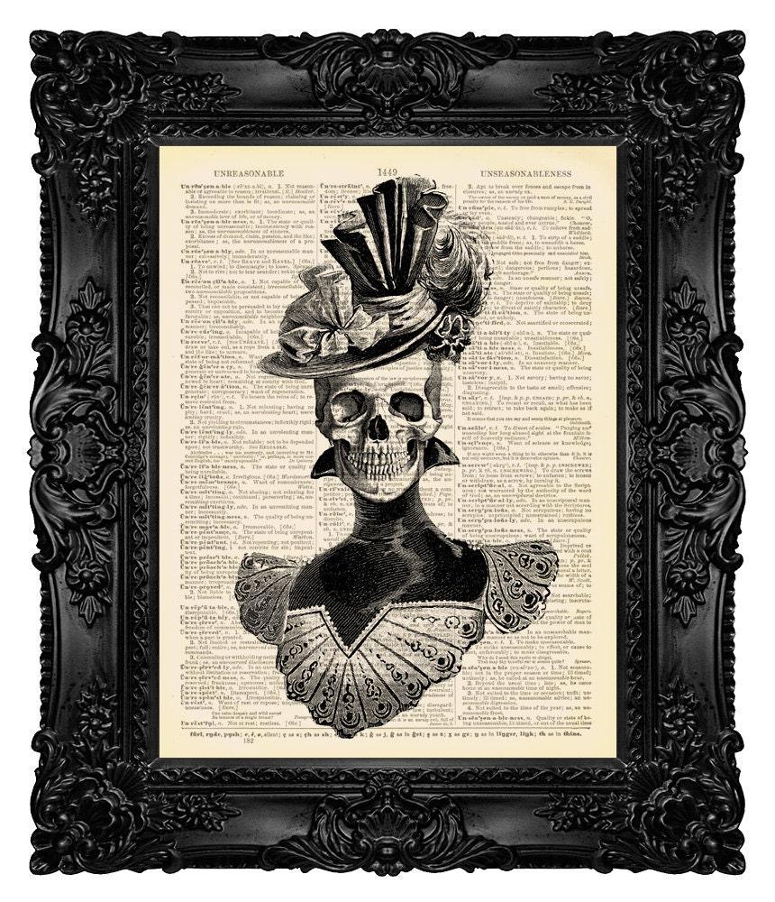Skeleton Art Victorian Gothic Decor Gothic By