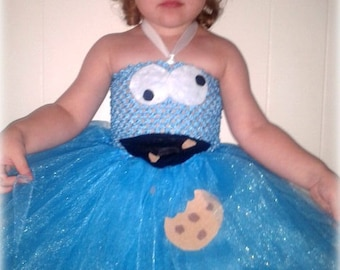 Cookie Monster Tutu Dress