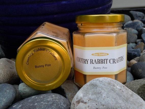 6 oz Bunny Poo (Mango Papaya) Soy Candle