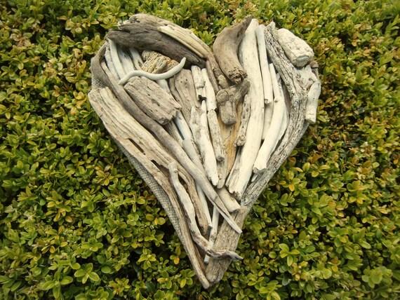 Handmade Driftwood Heart (30cm deep x 27cm across)