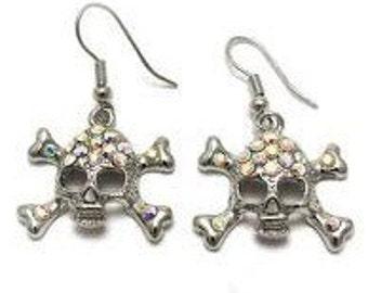Rhinestone Pirate Earrings