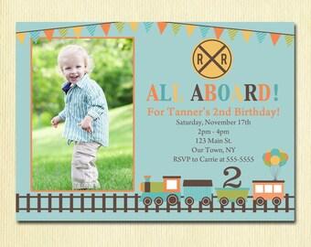 Boys chalkboard birthday invitation 1 2 3 4 5100 year train birthday invitation boys 1st 2nd 3rd 4th birthday party photo kids party invite stopboris Gallery