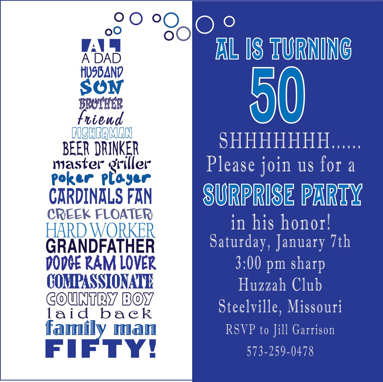 Fiftieth Birthday Invitation Poems 50th Birthday Invitations – Party Invite Poems