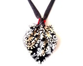 Abstract Leaf Necklace. One of a Kind. Avant Garde Accessory. Autumn Trends. Fabric Jewelry. Textile Necklace.