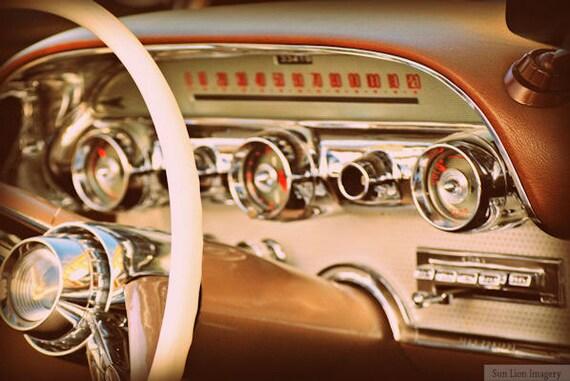 Sell Old Car >> Items similar to Vintage Dash - Rustic Wall Art - Classic Car Art Prints - Retro Print - Vintage ...