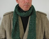 Emerald Tweed Alpaca Wool Blend Scarf