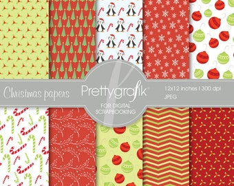 80% 0FF SALE Christmas digital paper, commercial use, scrapbook papers, background - PS557