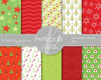 80% 0FF SALE Christmas digital paper, commercial use, scrapbook papers, background - PS558