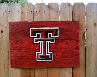 Texas Tech University Rustic Sign