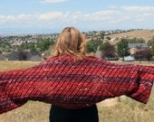Open weave women's shrug