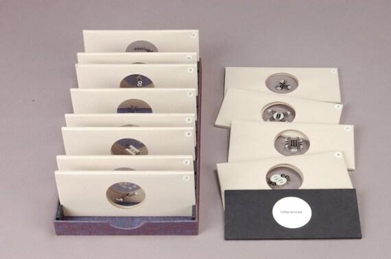 Utterance Specimens Slide Box Set Sculptural Book Halfu Press Gwendolyn Stronach