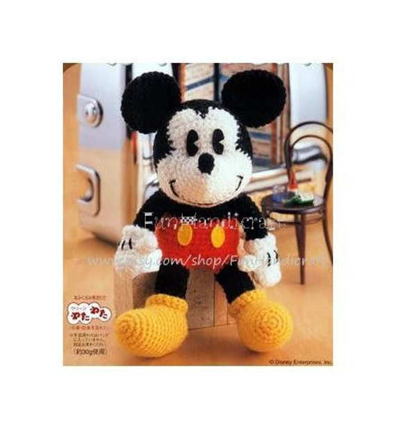 Crocheting With Mikey : Disney Mickey Mouse Amigurumi Pattern in English by FunHandicraft