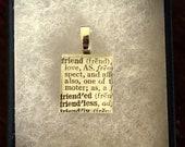 Scrabble Tile Pendant - Friend Dictionary Word Definition