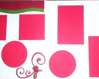Premade Christmas Scrapbook Layouts - 2 12 x 12
