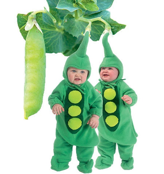 McCalls 6627 Baby Halloween Costume Sewing pattern, Two peas in a pod, SZ NB, S, M, L, XL