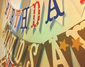 Red White Blue Birthday Banner